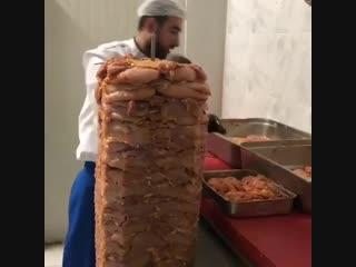 Как готовят шаурму в Турции
