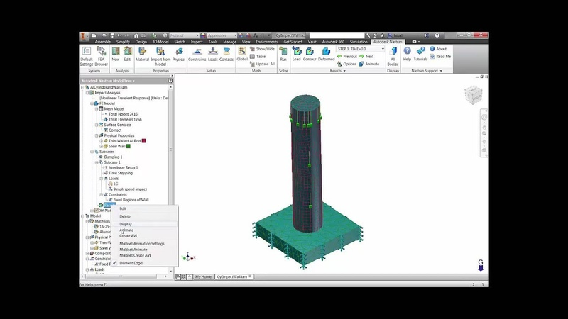 Autodesk Inventor with Nastran In-CAD - Impact analysis