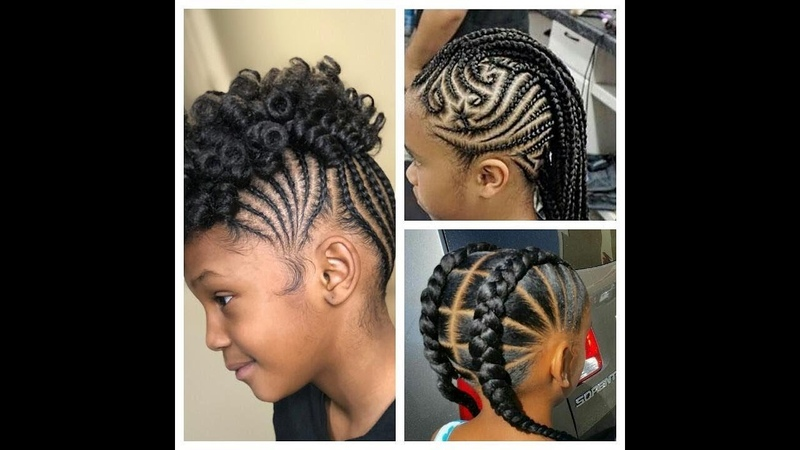2018 BRAIDED NEW HAIRSTYLES FOR LITTLE GIRLS WITH WEAVENS BEADS TO LOOK LIKE PRINCESS THIS SEASON