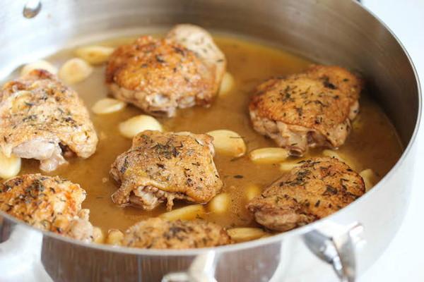 Тушеная курица с чесноком, изображение №7