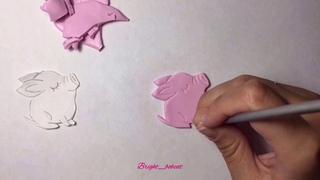 🐷Хрюшка или Свинка, брошь, своими руками👐🏻 FIMO мастер класс 🐷