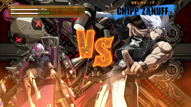 Akanai(Chipp) vs Nkey(BedMan) GuiltyGearXrd9 - Ниндзя не спят