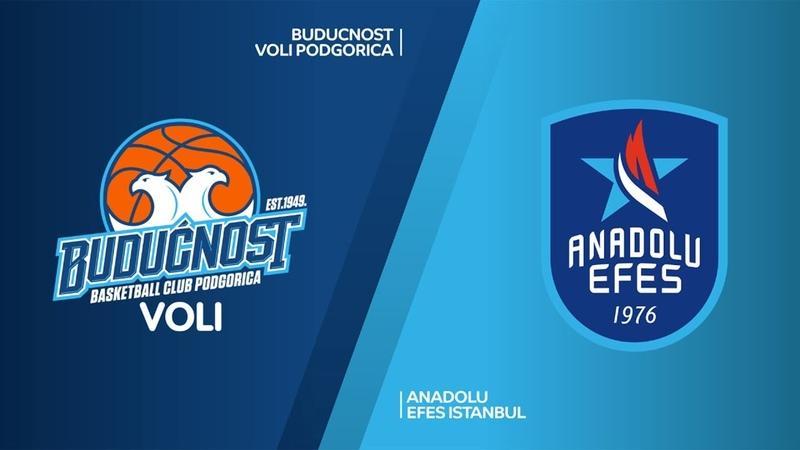 Buducnost VOLI Podgorica - Anadolu Efes Istanbul Highlights   EuroLeague RS Round 28