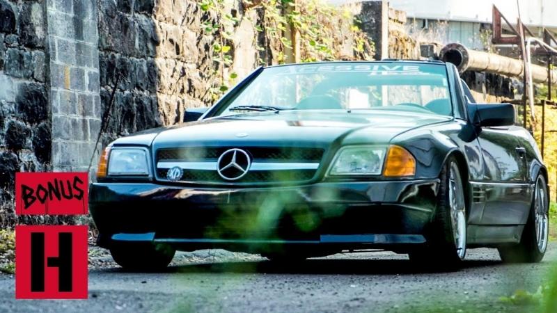 Hoonigan Xcessive Mercedes SL 500 убивает резину у Пончиковой Мельницы BMIRussian