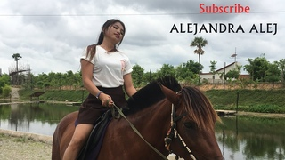 Training Horse By Beautiful Girl | Holiday Riding Horse At My Village | How To Riding Horse #07