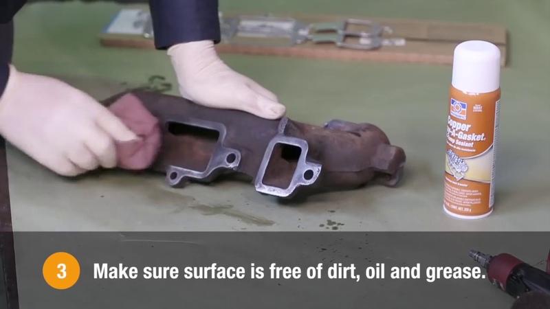 Медный антипригарный клей прокладок Permatex Copper Spray A Gasket Hi Temp Adhesive Sealant 80697