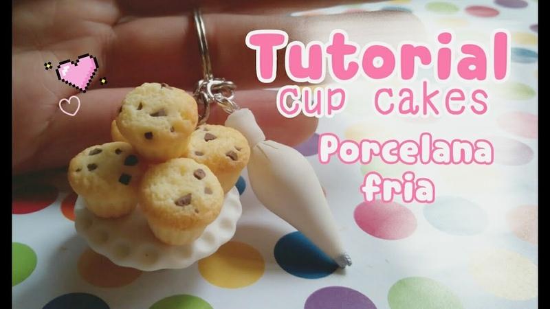 Haz unos Cup cakes mini para accesorios PORCELANA FRIA💕