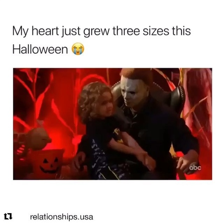 Laurie Strode cosplayer🖤🧡🎃🔪 on Instagram ME HEART HAS OFFICIALLY MELTED🖤 michaelmyers halloweenmovie Repost @ with @get repos