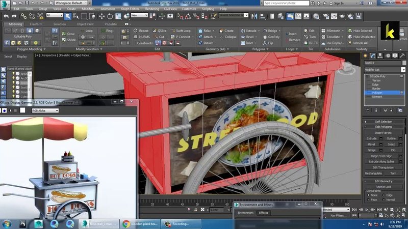 Tutorial on Modeling and Texturing a food stall in 3dsmax ( Part 4)