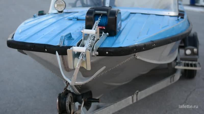 Роульс якорный с лебедкой Sea Pro. Якорь Брюса