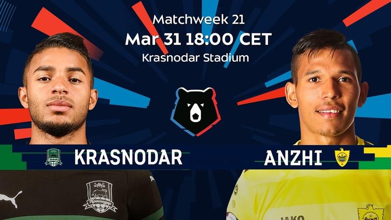 FC Krasnodar vs Anzhi Matchweek 21 Russian Premier Liga