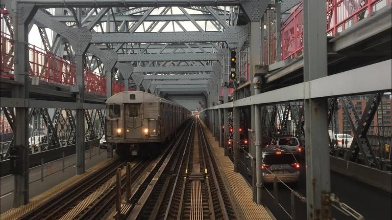 NYC Subway HD 60fps: Budd R32 Z Skip-Stop Train Thunderstorm Railfan Window RFW Ride (7/25/16)