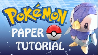 How To Make a Pokemon Out of Paper - Piplup