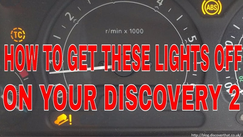 HOW TO FIX YOUR DISCOVERY 2 ABS TRACTION CONTROL AND HILL DESCENT LIGHTS
