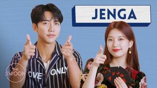 Lee Seung-gi and Bae Suzy play Jenga [ENG SUB]