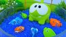 Video e giochi per bambini. Le avventure di OmNom. Pesca al lago