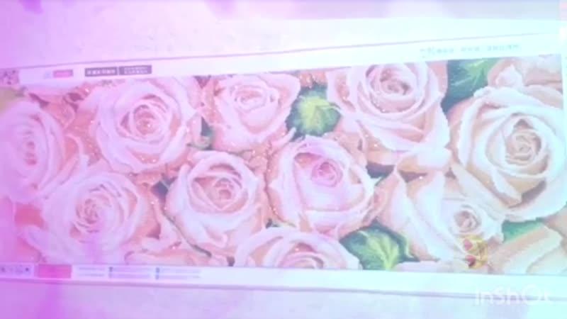 Шикарные розы 🌹 алмазная вышивка