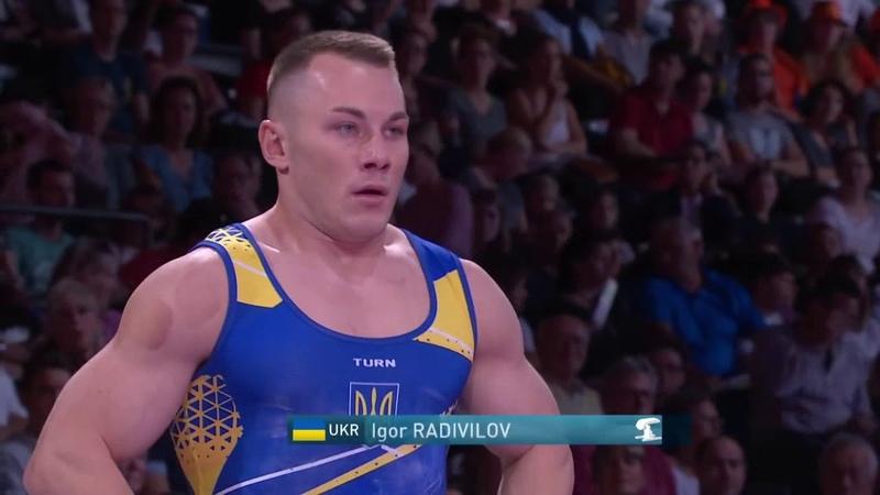 Медальное выступление Игоря Радивилова на чемпионате мира по спортивной гимнастике