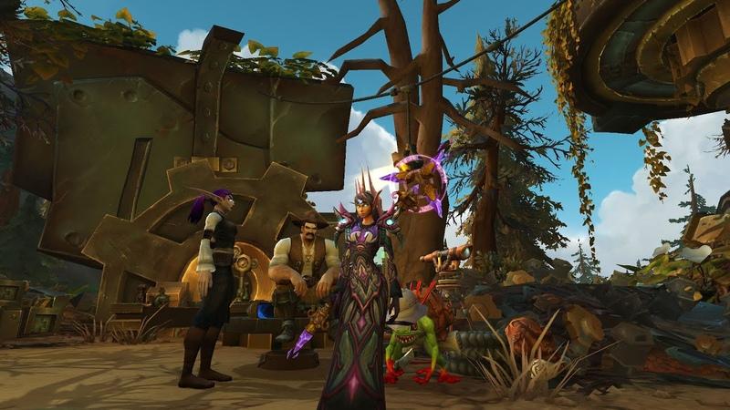 Элиза Рено и Финдли на Мехагоне Однокнопочный маг за орду World of Warcraft Battle for Azeroth
