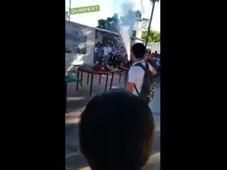 Показательный наглядный урок- тема: извержение вулкана
