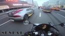 Гонки под музыку на мотоцикле. Нурминский-105 двор