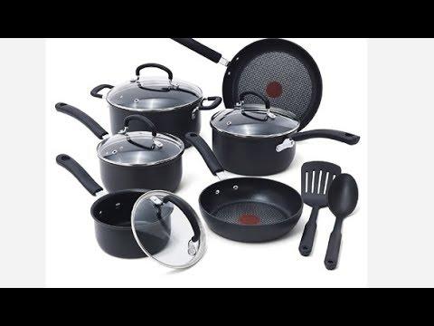 Tefal 2 Piece Signature Hard Anodized Nonstick Cookware Set