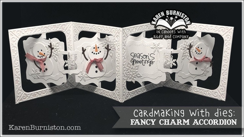 Cardmaking with Dies: Fancy Charm Accordion