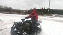 Зимний комплект гусеница, лыжи для квадроцикла 200 куб.см.