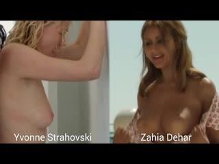 Nude actresses (Yvonne Strahovski p.2, Zahia Dehar) in sex scenes / Голые актрисы (Ивонн Страховски ч.2, Захия Дехар) в секс. сц