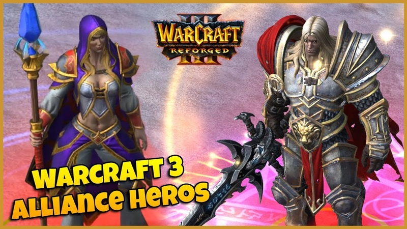 Warcraft 3 Reforged | Alliance Campaign Characters Spell Animations
