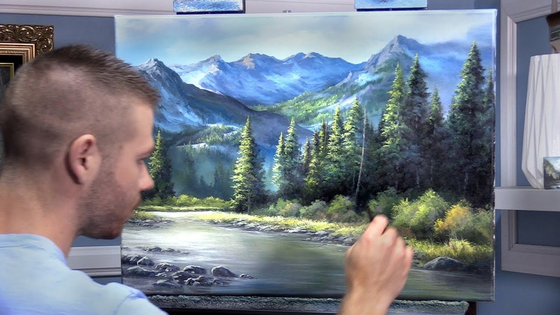 Evergreen Forest Large Mountain | Paint with Kevin ®