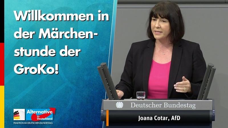 Willkommen in der Märchenstunde der GroKo Joana Cotar AfD Fraktion im Bundestag