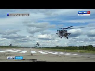 В 15-й бригаде армейской авиации под Островом экипажи готовятся к тренировочным полётам