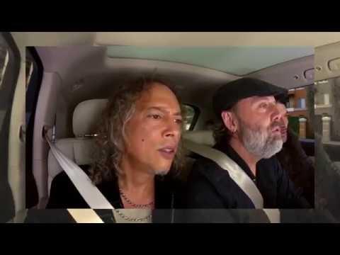 Metallica singing Rihanna's Diamonds in Carpool Karaoke