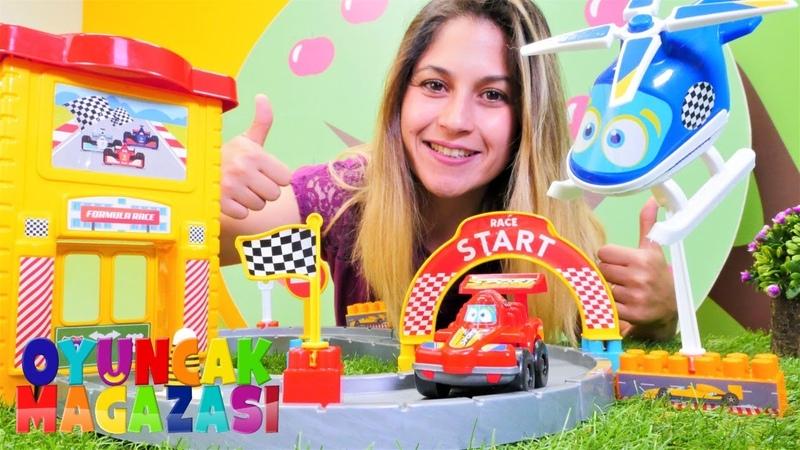 Ayşe'nin oyuncak mağazası yarış pistiyı kuralım Araba yarışı oyunları