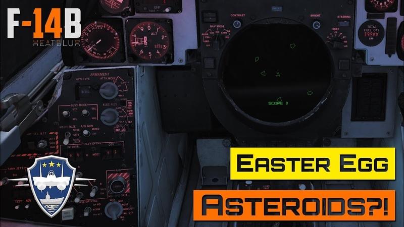 DCS World - F-14 - Asteroids Easter Egg!