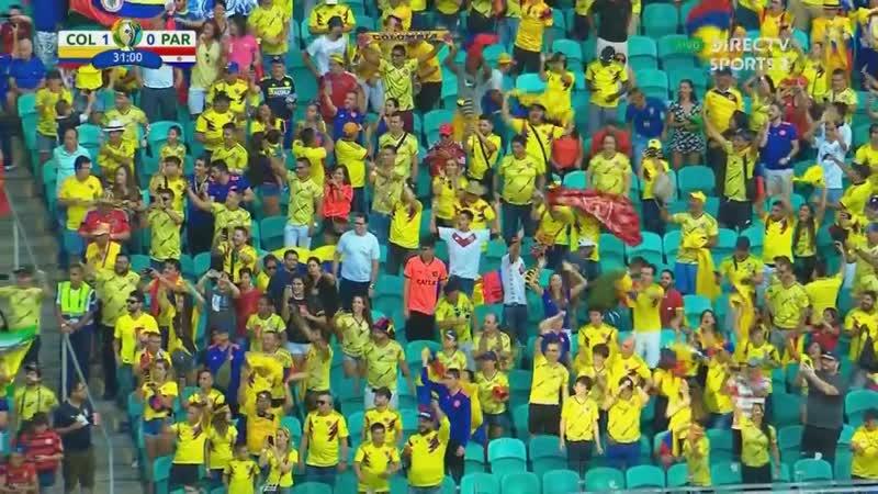 Gol de Cuellar Colômbia 1x0 Paraguai