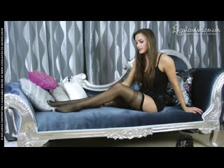 Ali tries sexy black holdups by Fiore Chantal stockings no porn yes pantyhose Legslavish