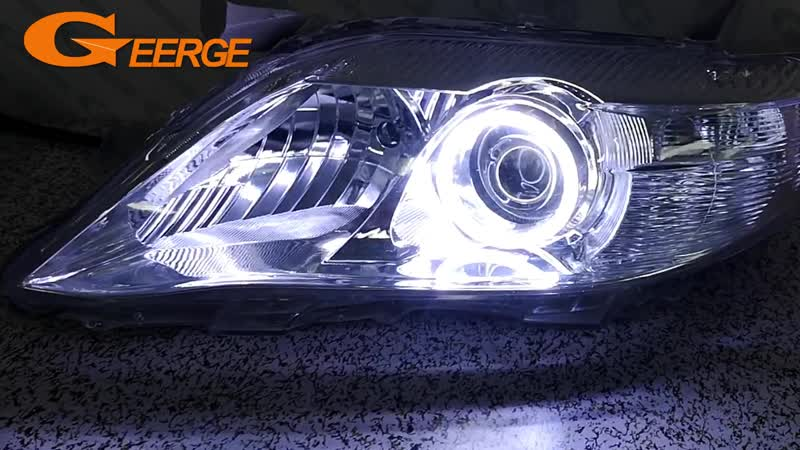 For Toyota Camry XV40 2010 2011 (USA Built) Excellent angel eyes Ultra bright COB led angel eyes kit