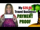 My 20 Dollar Travel Business PAYMENT PROOF | 30 Day Review