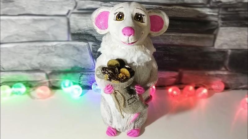 Белая крыса🐀 - СИМВОЛ 2020 года.Как сделать крысу из соленого теста своими руками.Мастер-класс.DIY.