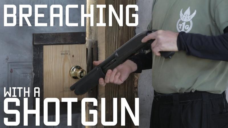 How to Breach a door with a shotgun CQB shotgunning a door Tactical Rifleman
