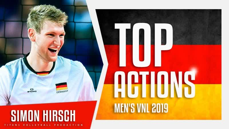 Simon Hirsch Best Aсtions VNL 2019 German National Team