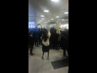 Болельщики ФК Каспия. Встреча команды в аэропорту. 4 ноября 2019