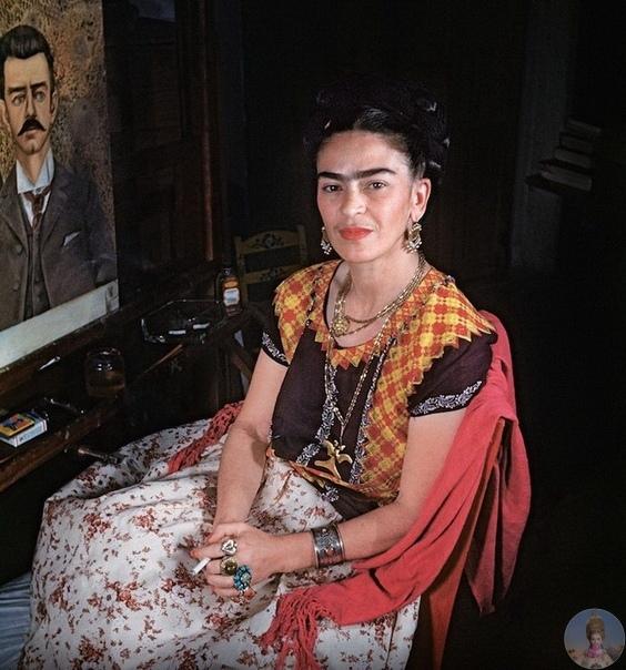 Редкое фото Фриды Кало