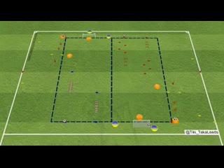 Футбольные упражнения завершение атаки 2 в 1, координация и дриблинг