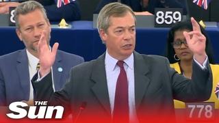 Nigel Farage causes chaos by slamming von der Leyens communist vision