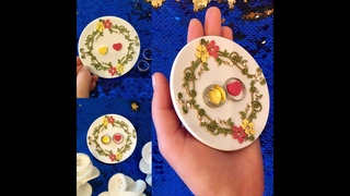 Тарелка для свадебных колец