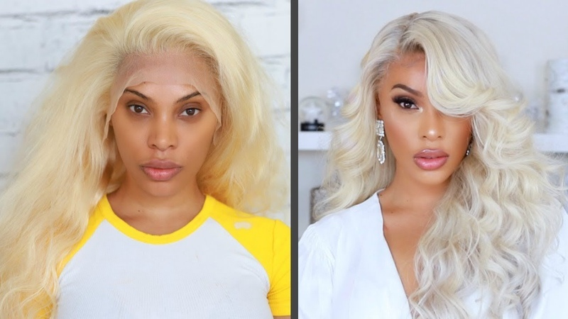 FROM YELLOW BLONDE HAIR TO PLATINUM BLONDE HAIR IN MINS