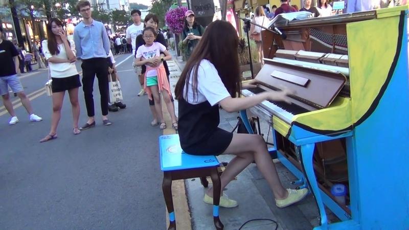 길거리 피아노 레전드 문아람의 하울의 움직이는 성 인생의회전목마 소름